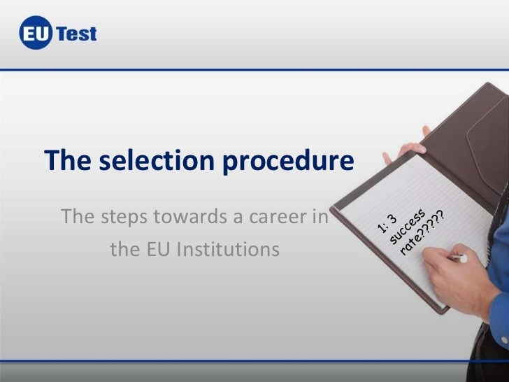 Epso Selection Procedure