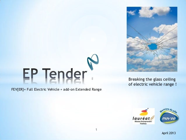 1April 2013Breaking the glass ceilingof electric vehicle range !FEV[ER]= Full Electric Vehicle + add-on Extended Range