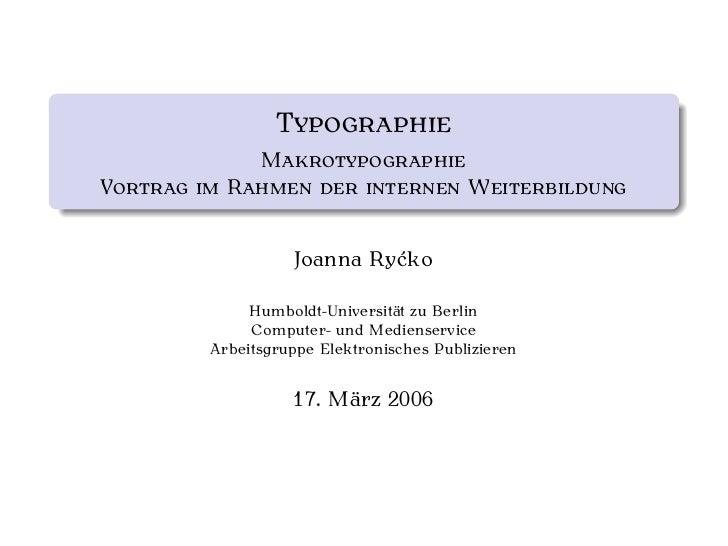 T           M V     R                              W                 Joanna Ryćko           Humboldt-Universität zu Berlin...