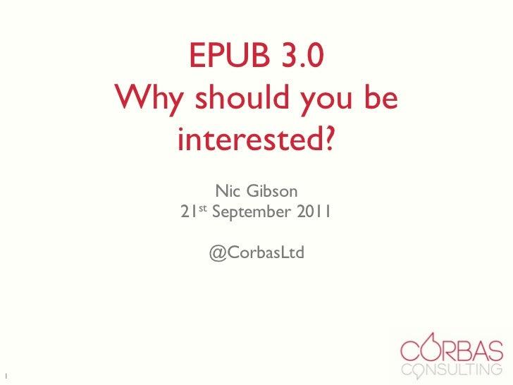 EPUB 3 (non technical summary)