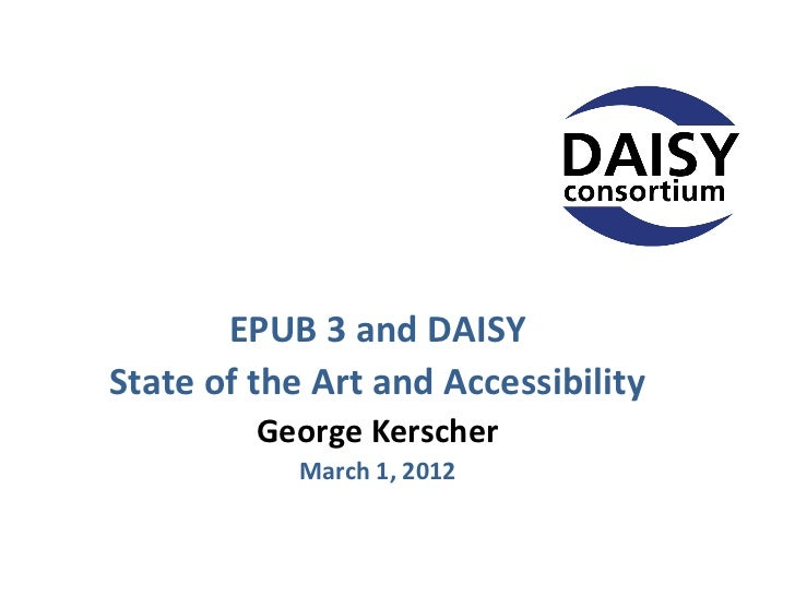 EPUB 3: State of the Art and Accessibility