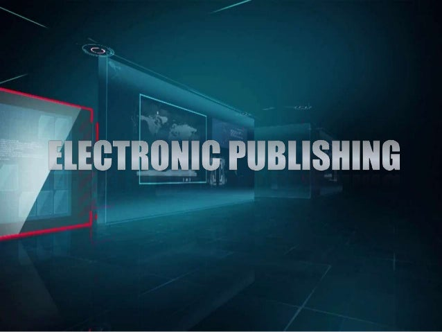 ePUB and e-publishing