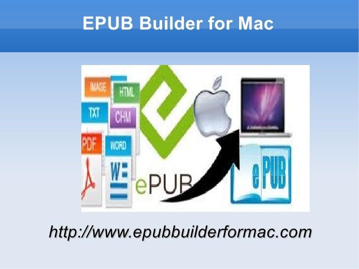 EPUB Builder for Machttp://www.epubbuilderformac.com