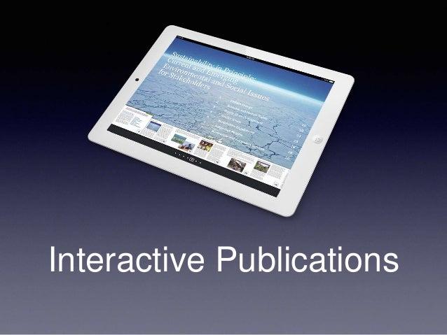 Publishing interactive ebooks