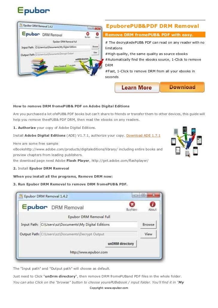 -28575-5715000Epubor ePUB & PDF DRM Removal<br />Remove DRM from ePUB & PDF with easy.<br /># The decrypted ePUB & PDF can...
