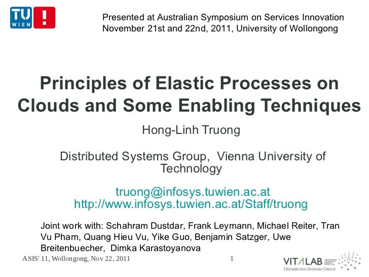 Presented at Australian Symposium on Services Innovation                         November 21st and 22nd, 2011, University ...