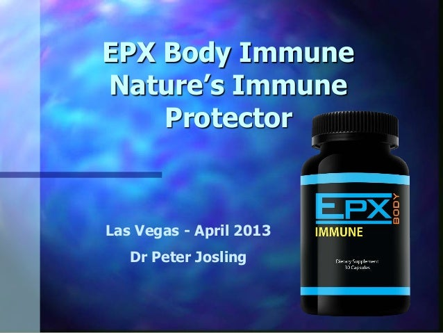 EPX Body IMMUNE Product by Peter Josling, PhD.