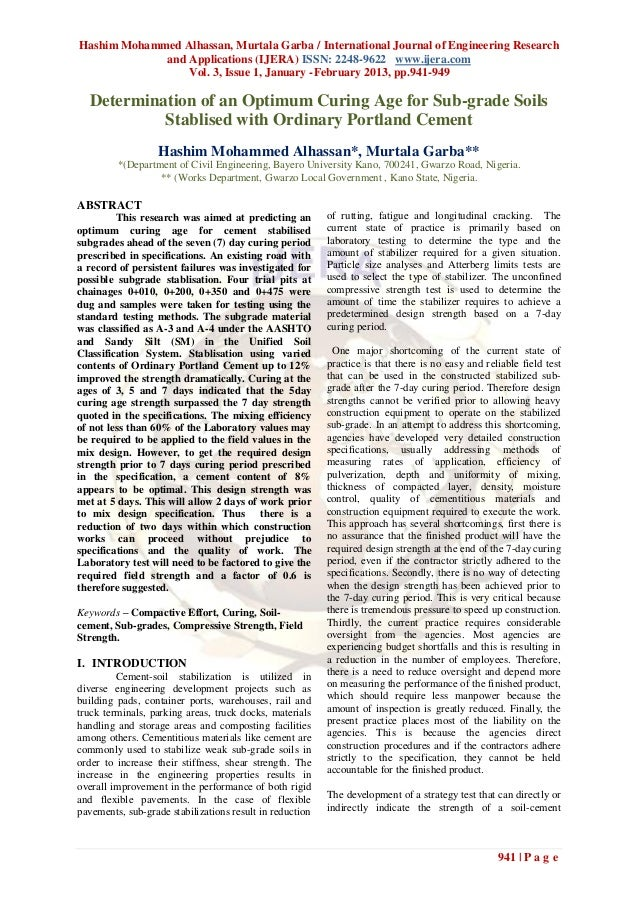 Hashim Mohammed Alhassan, Murtala Garba / International Journal of Engineering Research             and Applications (IJER...