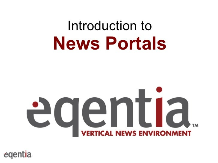 Introduction to News Portals