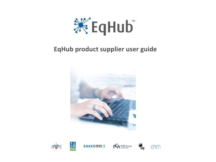 EqHub product supplier user guide