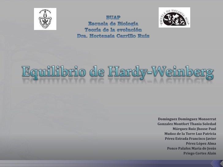 Equilibrio de Hardy- Weinberg