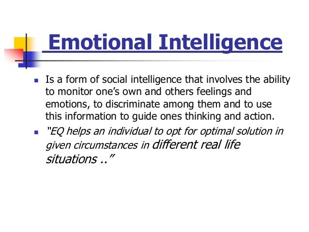 explain the importance of emotional intelligence to organizational behavior Emotional intelligence and organizational citizenship behavior of high school   of extra-role behaviors of employees who work in the organization  he  explained five factors for emotional intelligence self awareness (being.