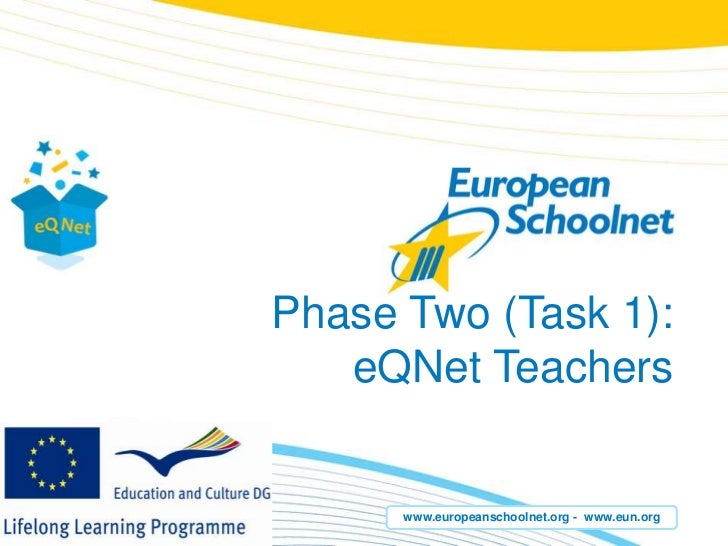 Phase Two (Task 1): eQNetTeachers<br />