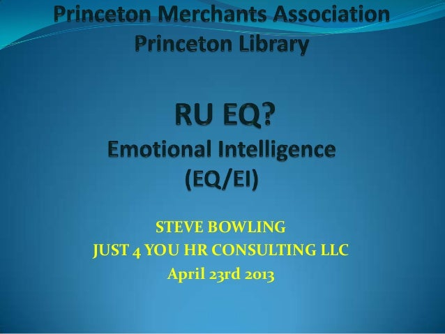 STEVE BOWLINGJUST 4 YOU HR CONSULTING LLCApril 23rd 2013