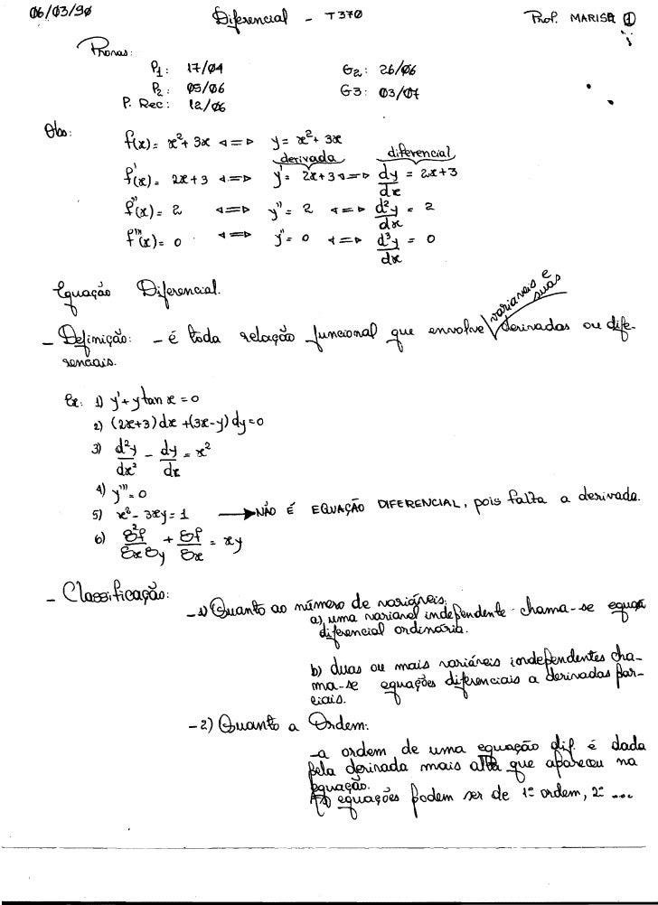 Equações diferenciais   1990