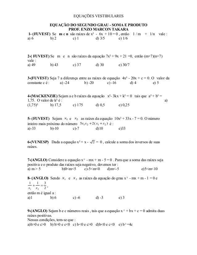 Equações do 2º grau completas