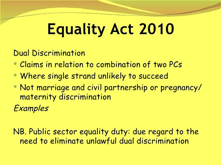 essays on equality act 2010 Free essay: ncfe level 2 certificate in equality and diversity unit 1: exploring equality and diversity assessment you should use this file to complete your.