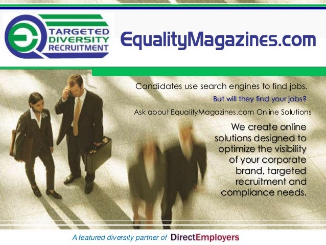 EqualityMagazines.com - DirectEmployers Members Special Opportunity