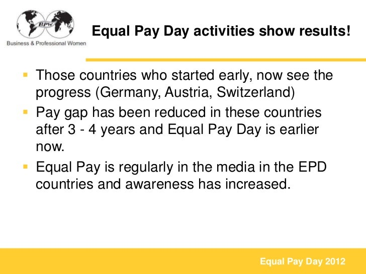 Equal Pay Day Activities Equal Pay Day Activities Show