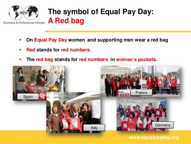 Equal Pay Day Activities The Symbol of Equal Pay Day a
