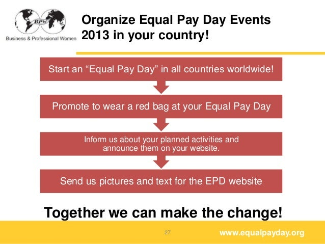 Equal Pay Day Activities Organize Equal Pay Day Events