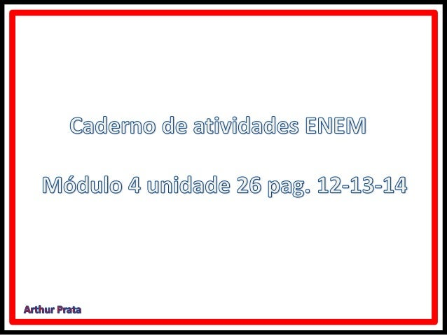 Equação  e inequação modular caderno de atividades 4 (enem)