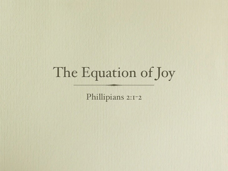 Equation Of Joy
