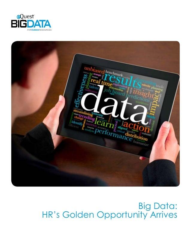 Big Data:HR's Golden Opportunity Arrives