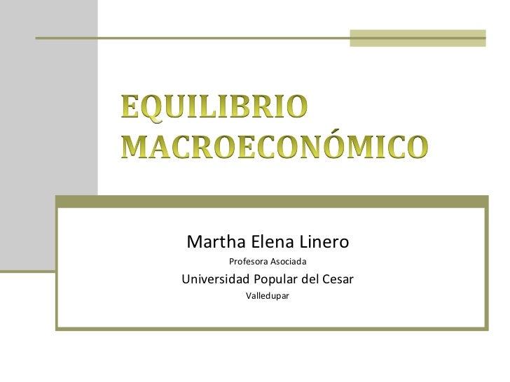 Equilibrio macroeconómico 1a  parte