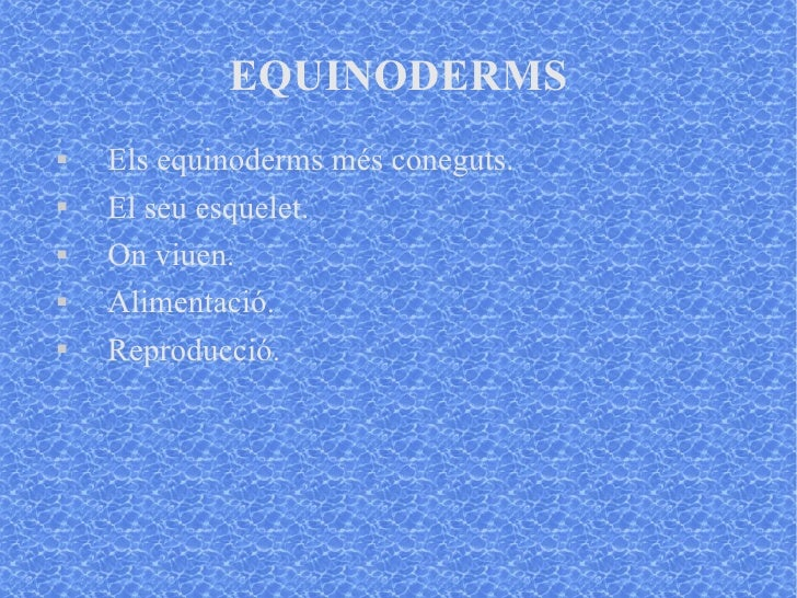 Equinoderms