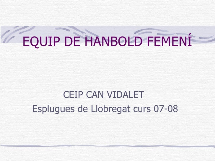 Equip De Hanbold Femení