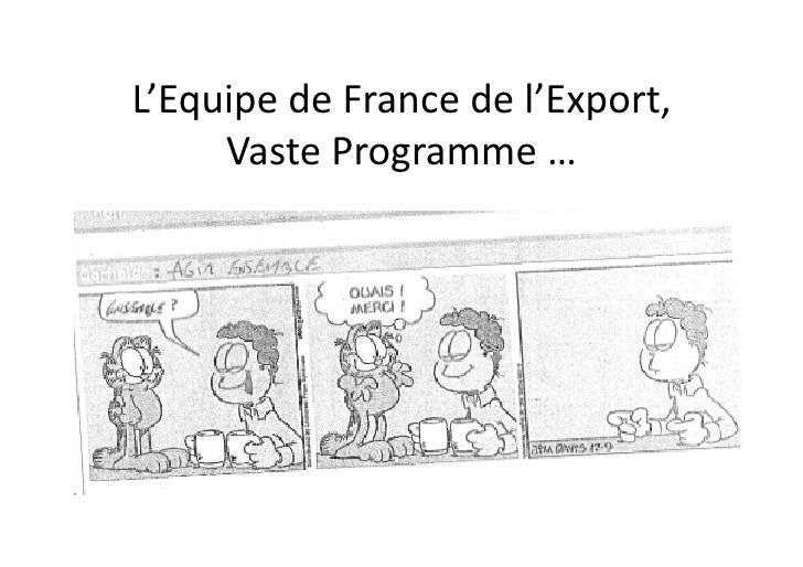 L'Equipe  de  France  de  l'Export,        Vaste  Programme  …