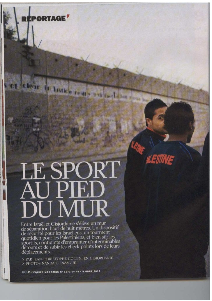 Equipe magazine_Sport_Cisjordanie