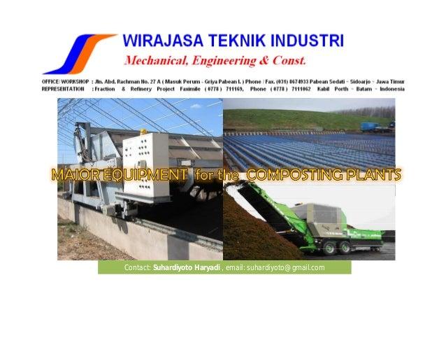 Major equipment of composting facility