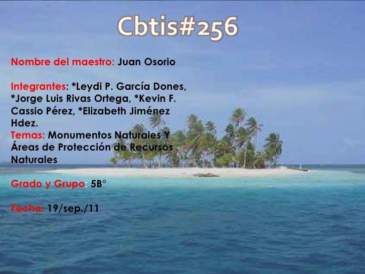 Cbtis#256 <br />Nombre del maestro: Juan Osorio<br />Integrantes: *Leydi P. García Dones, *Jorge Luis Rivas Ortega, *Kevin...