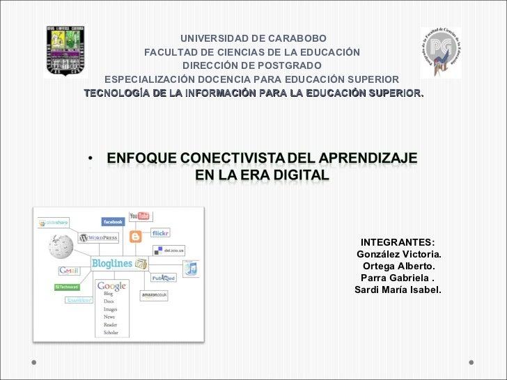 UNIVERSIDAD DE CARABOBO         FACULTAD DE CIENCIAS DE LA EDUCACIÓN                DIRECCIÓN DE POSTGRADO   ESPECIALIZACI...