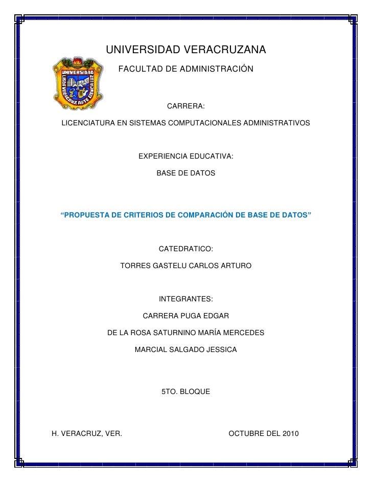 1524027178000UNIVERSIDAD VERACRUZANA<br />FACULTAD DE ADMINISTRACIÓN <br />CARRERA:<br />LICENCIATURA EN SISTEMAS COMPUTAC...