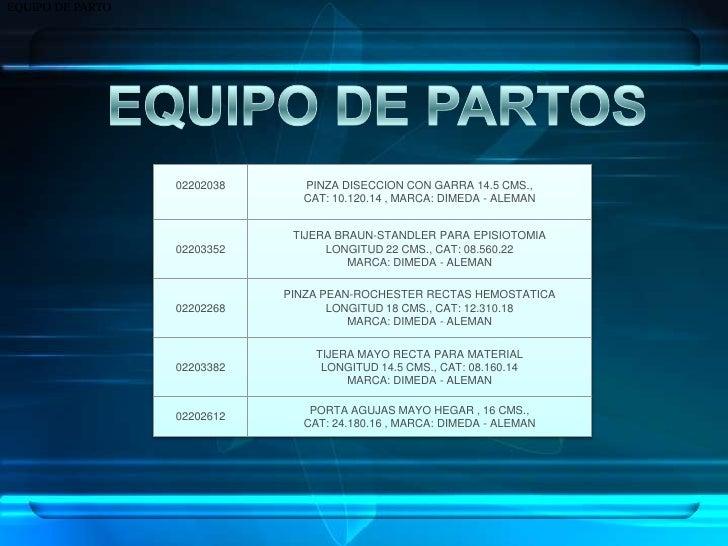 EQUIPO DE PARTO<br />EQUIPO DE PARTOS<br />