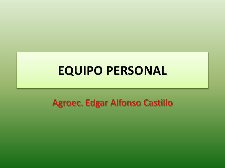 Equipo Personal