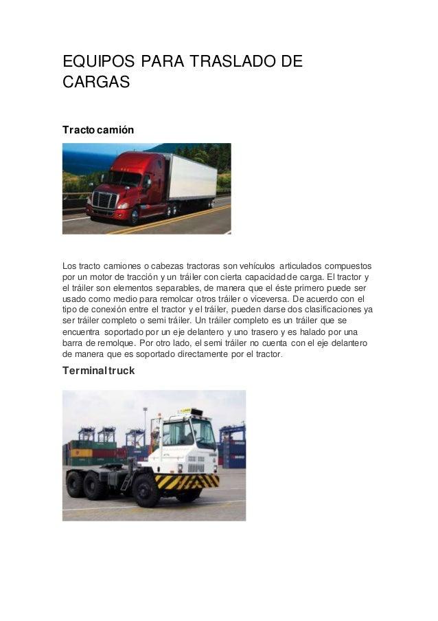equipos de carga: