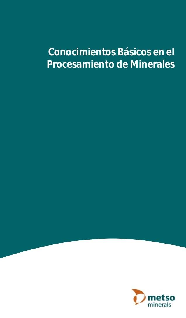 Conocimientos Básicos en el Procesamiento de Minerales Cover Wire O.p65 04-05-04, 13:113
