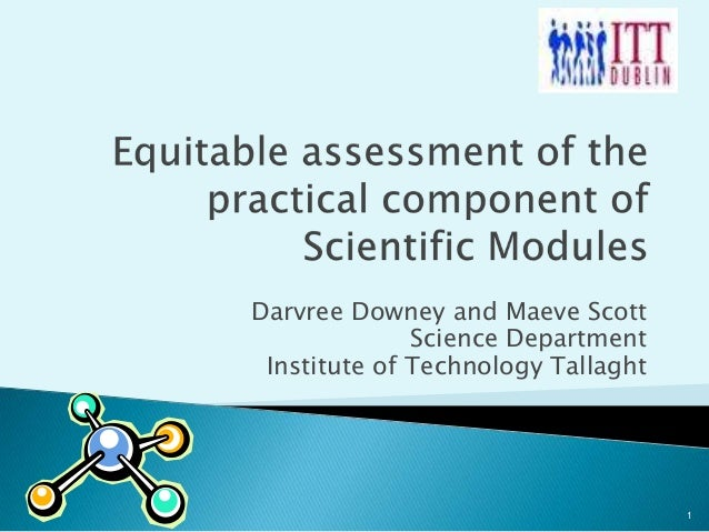 Equitable assessment of the practical component of scientific modules