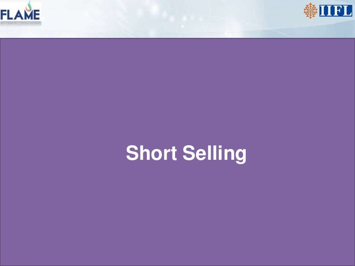 Short Selling<br />