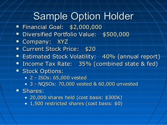 Cost basis iso stock options