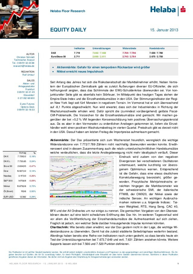 Helaba Floor Research                                                     EQUITY DAILY                                    ...