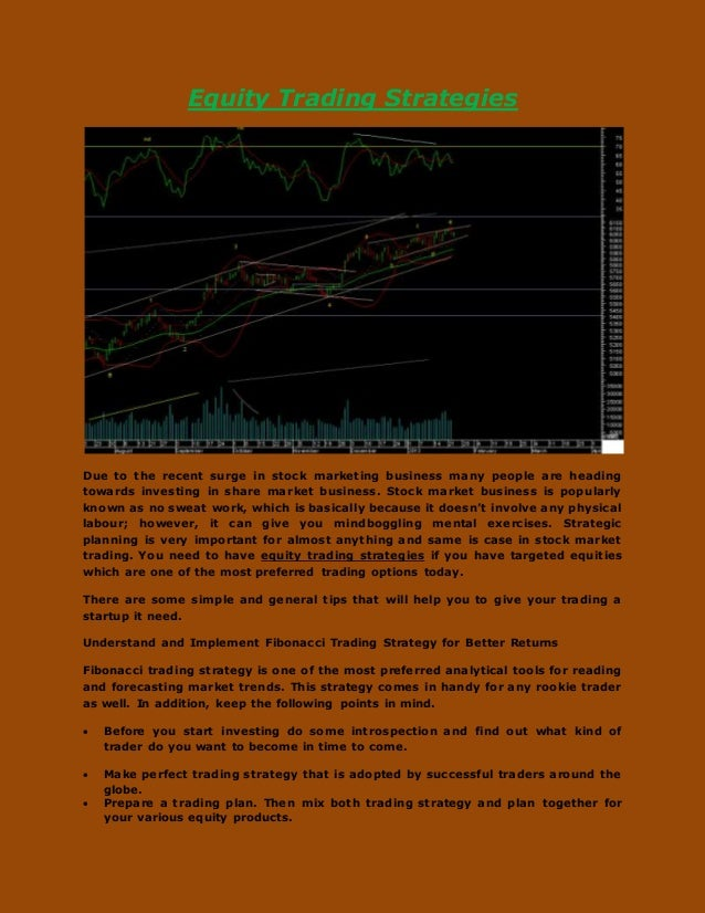 Equities trading strategies