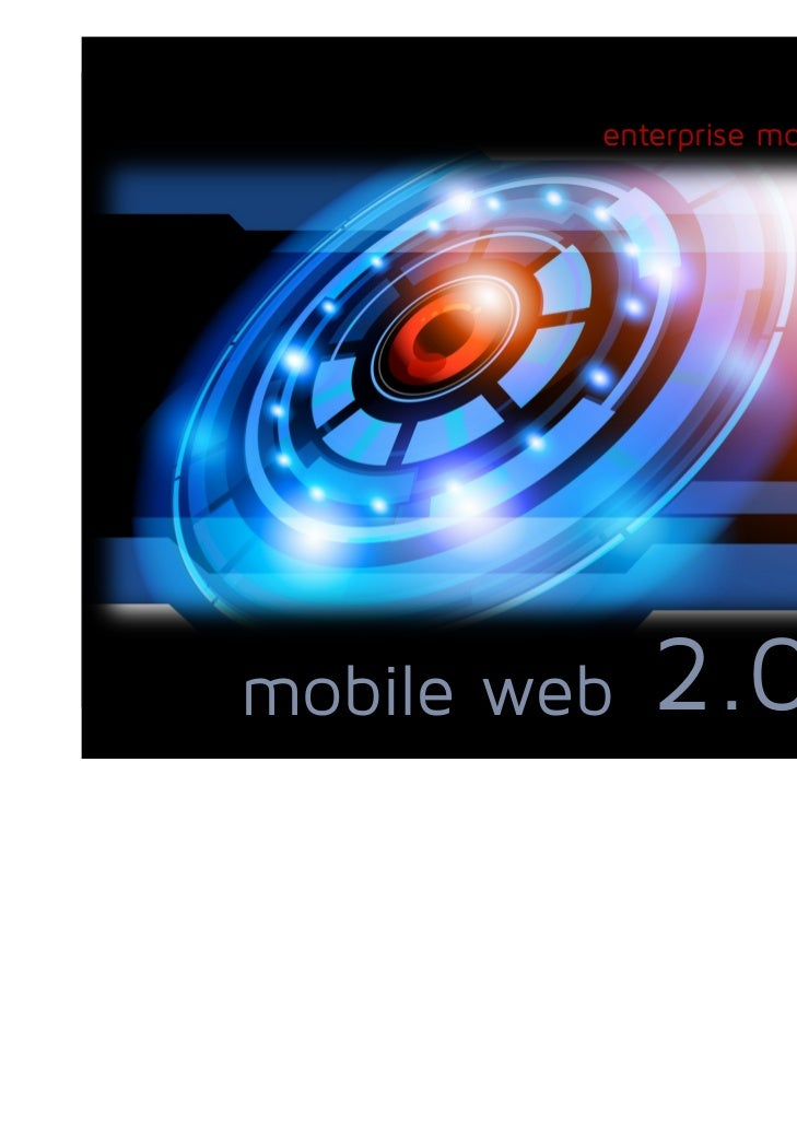 enterprise mobility servicesmobile web   2.0