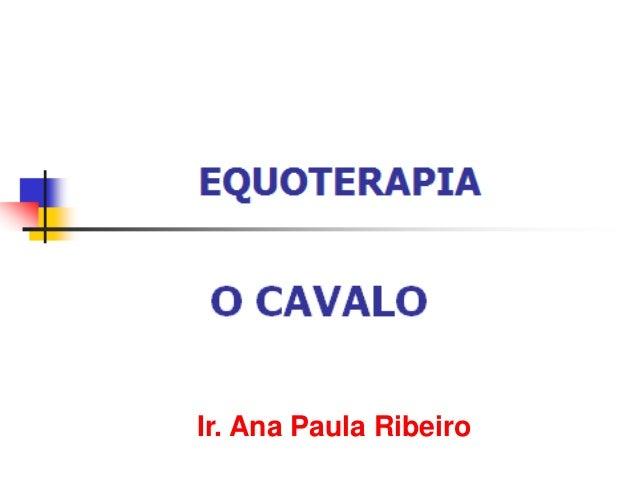 Ir. Ana Paula Ribeiro