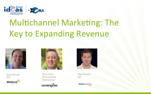 Mul%channel	   Marke%ng:	   The	    Key	   to	   Expanding	   Revenue	     Jason	   Spievak	    CEO	     Bruce	   Cook	   ...