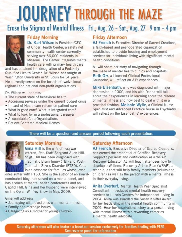 Erase the Stigma Conference brochure 2011